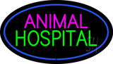 Animal Hospital Blue Oval LED Neon Sign