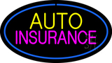 Auto Insurance Blue Oval LED Neon Sign
