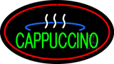 Oval Cappuccino with Red Border LED Neon Sign