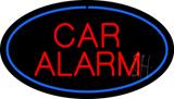 Car Alarm Oval Blue LED Neon Sign