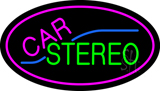 Oval Car Stereo with Pink Border LED Neon Sign