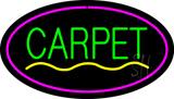 Carpet Oval Purple LED Neon Sign