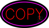 Red Copy Oval Pink LED Neon Sign