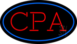 CPA Oval Blue LED Neon Sign