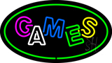 Games Oval Green LED Neon Sign