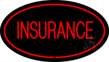Red Insurance Oval Red LED Neon Sign