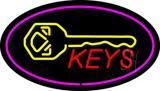 Keys Logo Oval Purple LED Neon Sign
