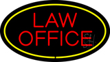 Law Office Oval Yellow LED Neon Sign