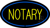 Yellow Notary Oval Blue Border LED Neon Sign