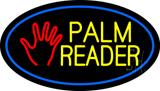 Palm Reader Logo Blue Oval LED Neon Sign