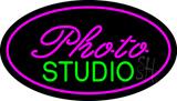 Photo Studio Purple Oval LED Neon Sign