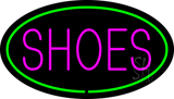 Shoes Oval Green LED Neon Sign