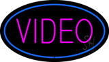 Purple Video Blue OvalLED Neon Sign