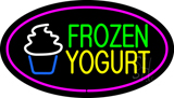 Frozen Yogurt Oval Pink LED Neon Sign