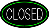 Closed Oval Green LED Neon Sign