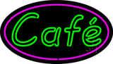 Cafe Oval LED Neon Sign
