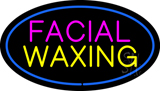 Facial Waxing Oval Blue LED Neon Sign