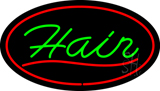 Green Hair Oval Red LED Neon Sign
