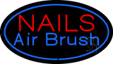 Nails Airbrush Oval Blue LED Neon Sign