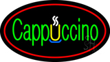 Cappuccino Oval Red LED Neon Sign
