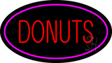 Donuts Logo Oval Pink LED Neon Sign