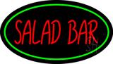 Salad Bar Oval Green LED Neon Sign