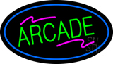 Arcade Oval Blue LED Neon Sign