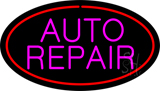 Pink Auto Repair Red Oval LED Neon Sign