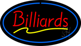 Red Billiards Blue Oval Neon Sign