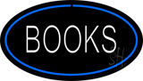 Books Oval Blue LED Neon Sign