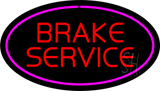 Red Brake Service Purple Oval LED Neon Sign
