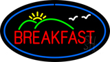 Oval Breakfast with Scenery LED Neon Sign