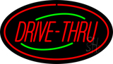 Drive-Thru Oval Red LED Neon Sign