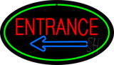 Entrance Oval Green LED Neon Sign