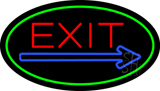 Exit Oval Green LED Neon Sign