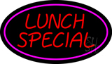Lunch Special Oval Pink LED Neon Sign