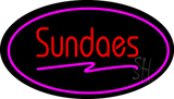 Sundaes Oval Pink LED Neon Sign