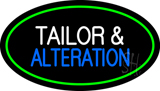 Tailor and Alteration Oval Green LED Neon Sign