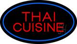 Thai Cuisine Oval Blue LED Neon Sign