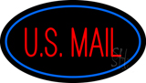 US Mail Oval Blue LED Neon Sign
