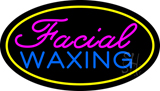 Facial Waxing Oval Yellow LED Neon Sign