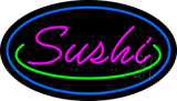 Pink Sushi with Blue Border LED Neon Sign