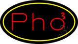Pho Oval Yellow LED Neon Sign