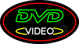 DVD Video Oval Red LED Neon Sign