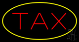 Oval Tax Yellow Border LED Neon Sign