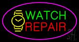 Watch Repair Pink Border LED Neon Sign
