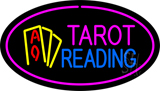 Tarot Reading Pink Oval LED Neon Sign