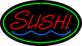 Sushi Oval Green LED Neon Sign