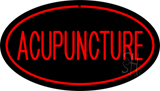 Acupuncture Oval Red LED Neon Sign