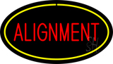 Alignment Yellow Oval LED Neon Sign